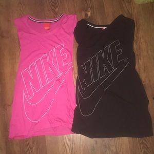 Two Nike tanks size XS